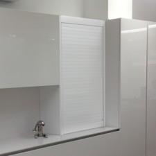 Persiana de Aluminio Blanco para Mueble de Cocina