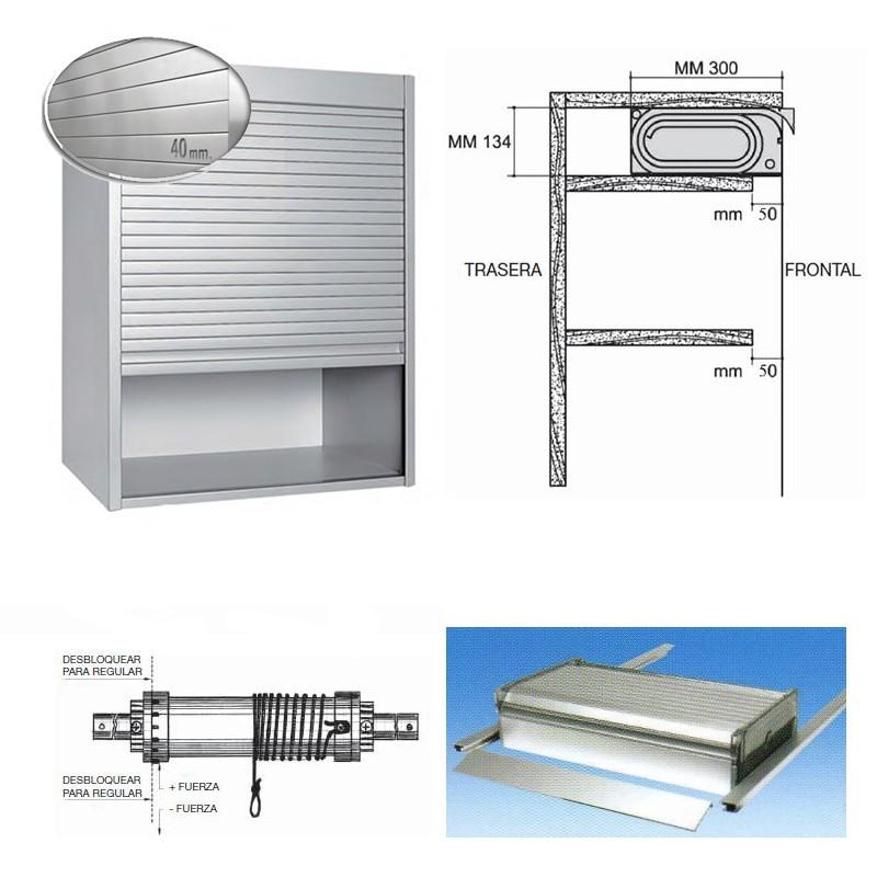 Persiana de aluminio blanco para mueble de cocina for Mueble de aluminio exterior