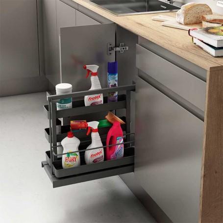 Extraíble Flat Antracita para Accesorios de Limpieza en Cocina