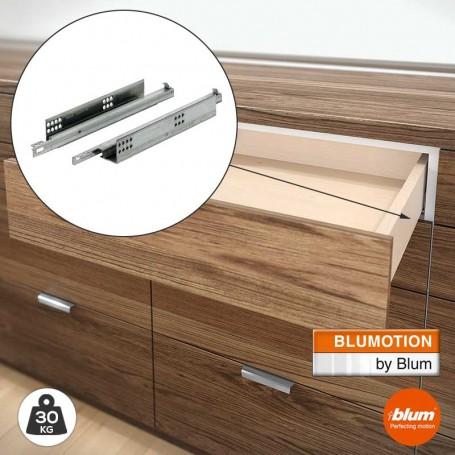 Guías 30 kg Blum Tandem con Freno Blumotion Extracción Parcial