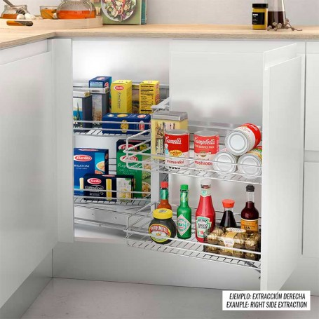 Extraible Articulado de Acero 4 Cestas para Mueble de Cocina