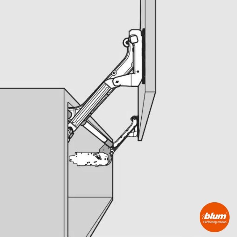 Bisagra aventos hl blum para frentes abatibles de cocina - Bisagras para puertas de cocina ...