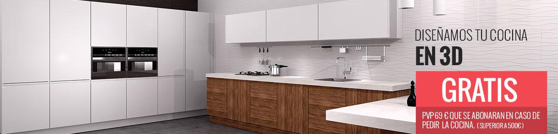 Presupuesto y Diseño de Cocina en 3D - CocinasKitOnline.com